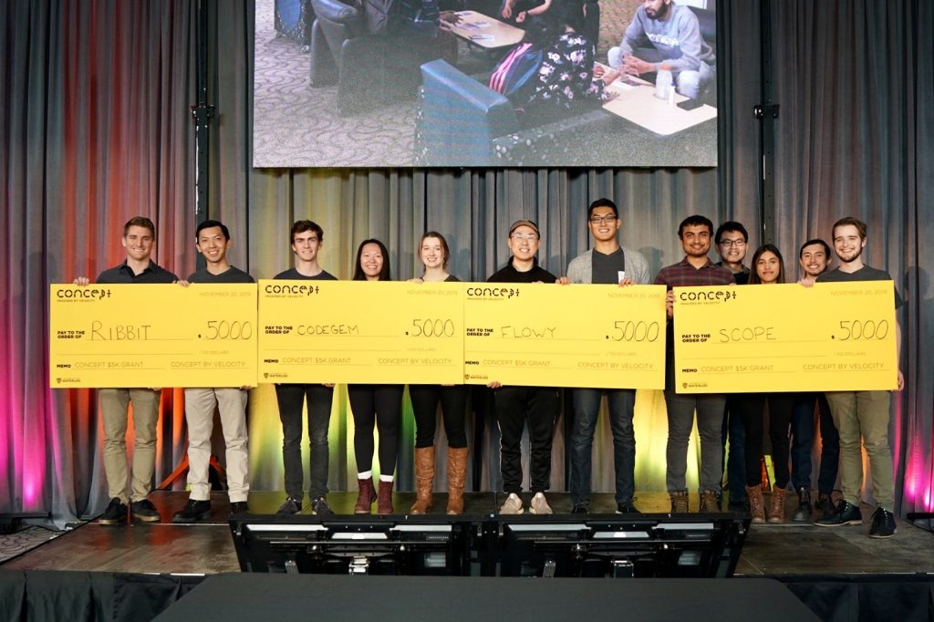 Winners of the Concept $5K Grants on Wednesday, November 20 fall 2019