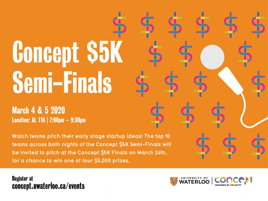 Concept $5K Semi-Finals March 2020